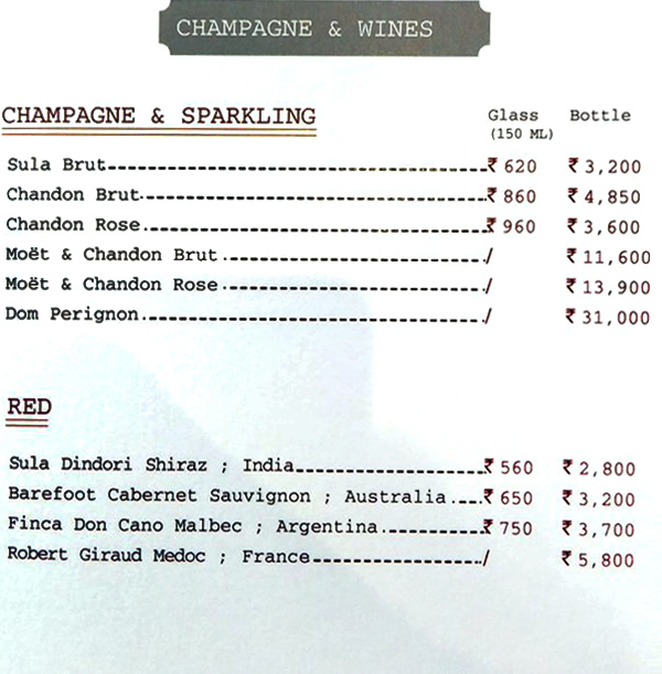 Delhi Club House menu 1