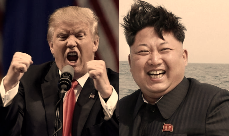 Donald Trump and Kim Jong Un. Pictures: REUTERS