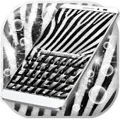 Zebra Print Keyboard Theme