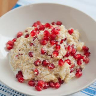 Quinoa and Coconut Milk Pudding with Pomegranate