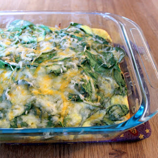 Cheesy Potato, Spinach and Egg Breakfast Casserole