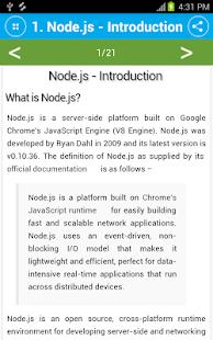 Free Node.js Tutorial - náhled