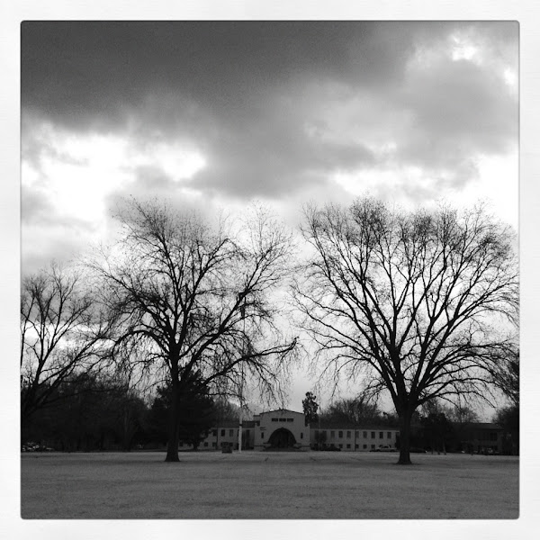 Photo: Cloudy day on campus.