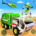 Flying Garbage Truck Robot Transform: Robot Games icon