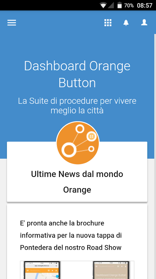 Orange Button- screenshot