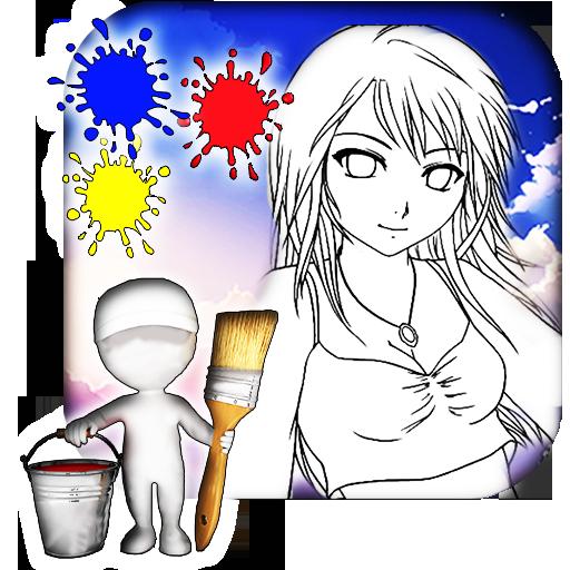 Anime Coloring Book 遊戲 App LOGO-硬是要APP