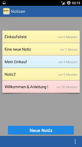 Notizen App Deutsch