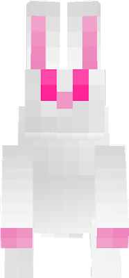 Simple cute white rabbit