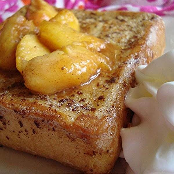 Peach Stuffed French Toast Recipe