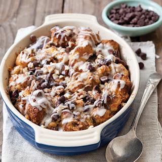 Chocolate-Cinnamon Roll Bread Pudding.