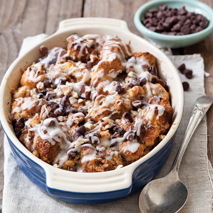 Chocolate-Cinnamon Roll Bread Pudding