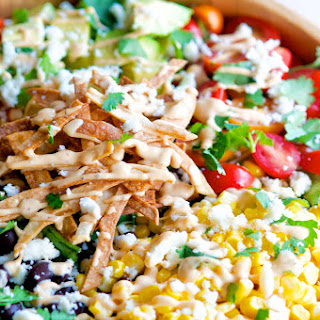 Southwest Chipotle Salad with Homemade Tortilla Strips