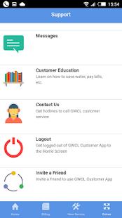 GWCL Customer App - náhled