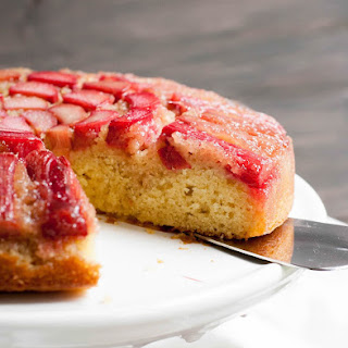 Rhubarb Upside Down Cake.