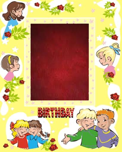 誕生日ケーキフォトフレーム