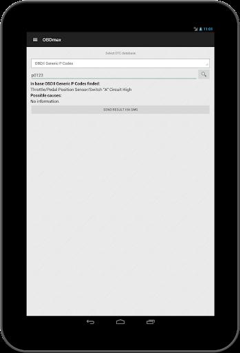 OBD2 scanner & fault codes description: OBDmax  screenshots 7