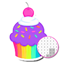 Cupcake Coloring Book - Color By Number icon