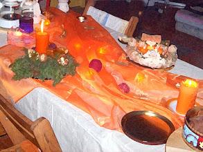 Photo: Fantazyjny stół wigilijny u Tivadara 608 (malowanka)
