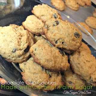 Chocolate Chip Cookies Using Coconut Palm Sugar.