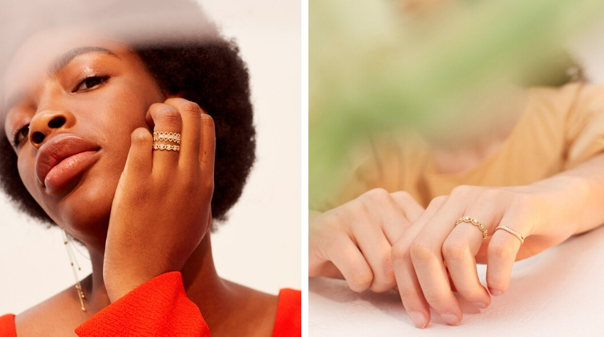 Elegant and ethically-made lab-grown diamond rings from Kimai