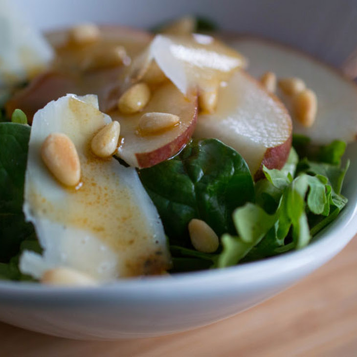 Italian Salad with Pears, Shaved Parmesan and Honey-Balsamic Vinaigrette