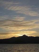 Photo: Sun behind Mt Berry