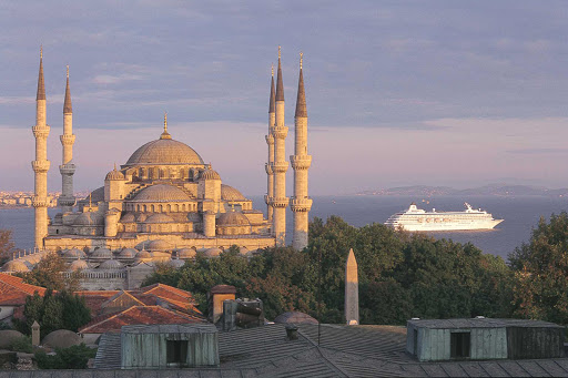 crystal-symphony-in-istanbul.jpg - Crystal Symphony passes by the iconic Blue Mosque in Istanbul, Turkey.