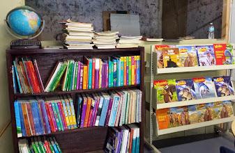 Photo: getting the textbooks and workbooks organized