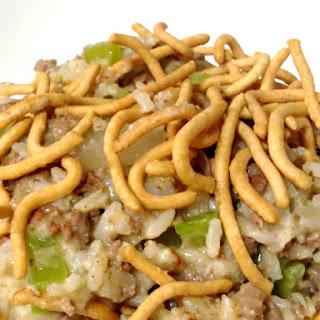 Chow Mein Hamburger Hot Dish.