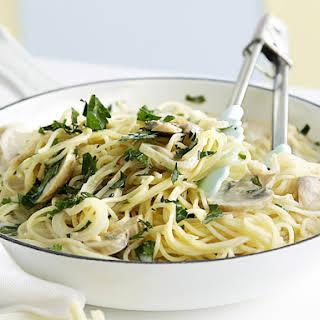 Pasta with Creamy Mushroom Sauce.