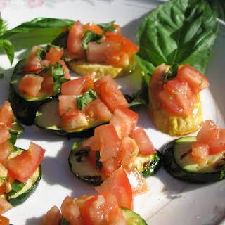 Zucchini Bruschetta Bites.