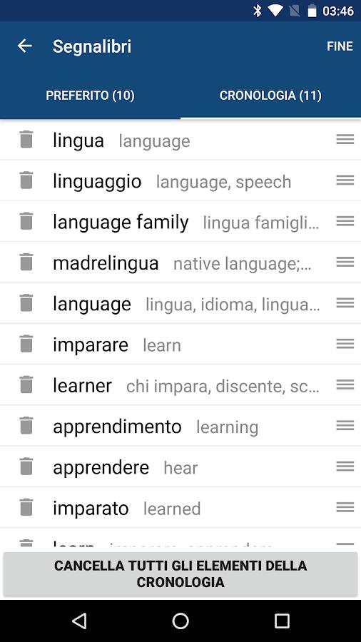 Dizionario inglese italiano traduttore inglese app - Traduttore simultaneo italiano inglese portatile ...