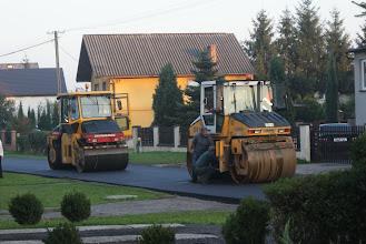 Photo: 3 października - położono kolejną warstwę asfaltu