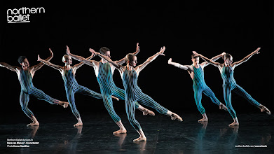 Photo: Northern Ballet dancers in Hans van Manen's Concertante. Photo Emma Kauldhar.