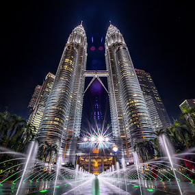 Twin Towers by Tien Sang Kok - Buildings & Architecture Public & Historical ( building, architecture, cityscape, kuala lumpur, nightscape )