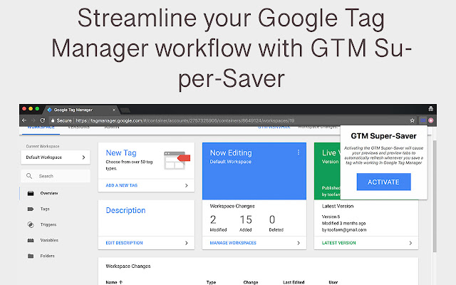 Google Tag Manager Super-Saver