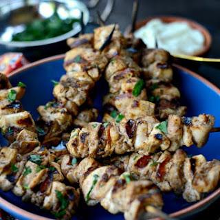 Shish Tawook (Lebanese Marinated Chicken Skewers)