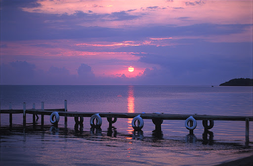 Belize-sunset.jpg - Sunset over the Caribbean Sea in Belize.