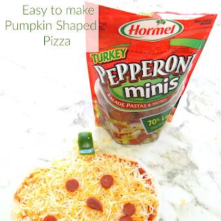 Easy to Make Pumpkin Shaped Pizza