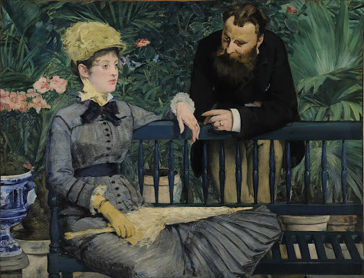 In the Conservatory - Edouard Manet - Google Cultural Institute