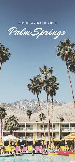 Palm Springs Birthday Bash - Snapchat Geofilter item
