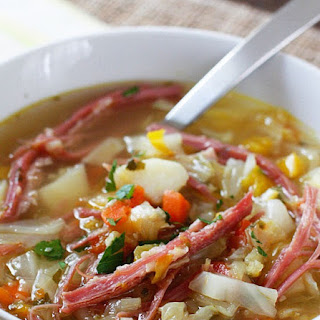 Corned Beef and Cabbage Soup #Recipe