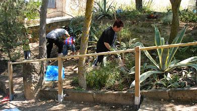 Photo: més a més de la neteja, condicionament i replantació que es fa cada any, també es varen instal·lar unes baranes per facilitar l'accés.