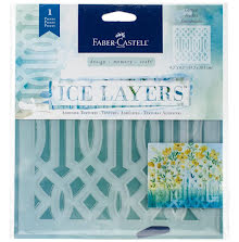 Faber Castell Ice Layers Adhesive Textures 6.5X9.75 - Lattice UTGÅENDE