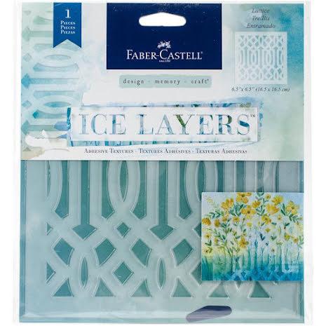 Faber Castell Ice Layers Adhesive Textures 6.5X9.75 - Lattice UTGÅENDE