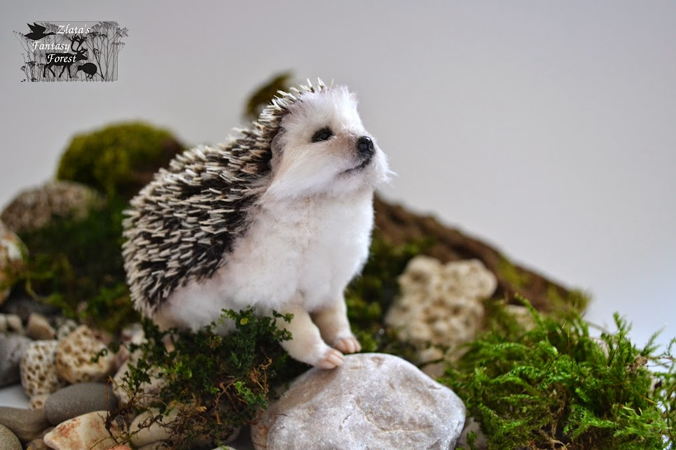 baby hedgehog handmade soft sculpture
