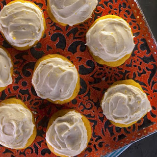 Carrot Cookies with Orange Buttercream Icing