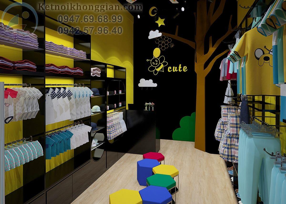 thiết kế shop thời trang trẻ em chuyên nghiệp