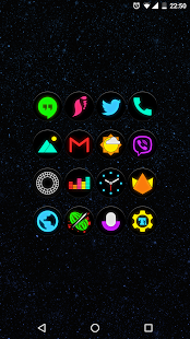 Neon Glow C - Icon Pack Screenshot