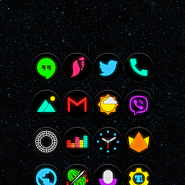 Neon Glow C - Icon Pack v1.9.0